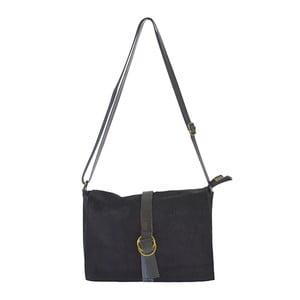 Čierna kožená kabelka Chicca Borse Nuena