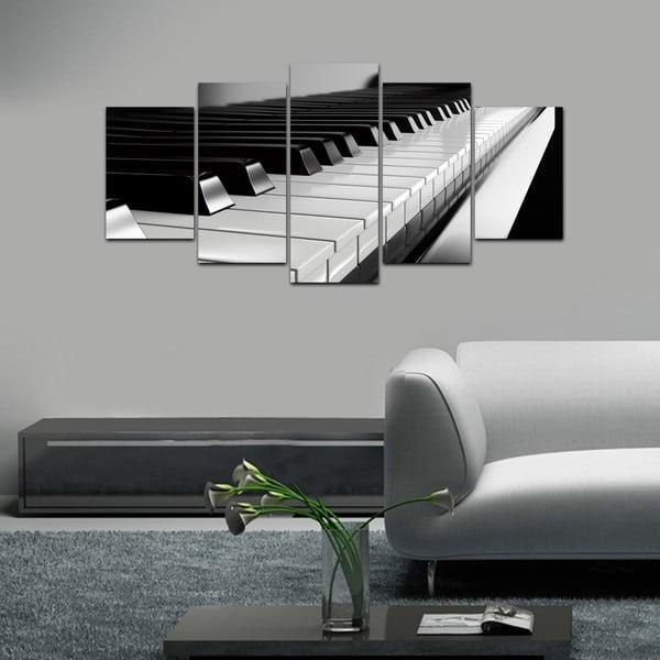 Viacdielny obraz Black&White no. 4, 100x50 cm