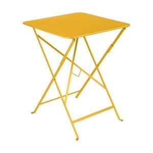 Žltý záhradný stolík Fermob Bistro, 57×57 cm