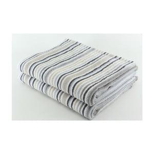 Set 2 osušiek Light Grey, 70x140 cm