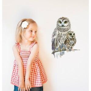 Samolepka na viac použití Woodland Owls, 40x30 cm