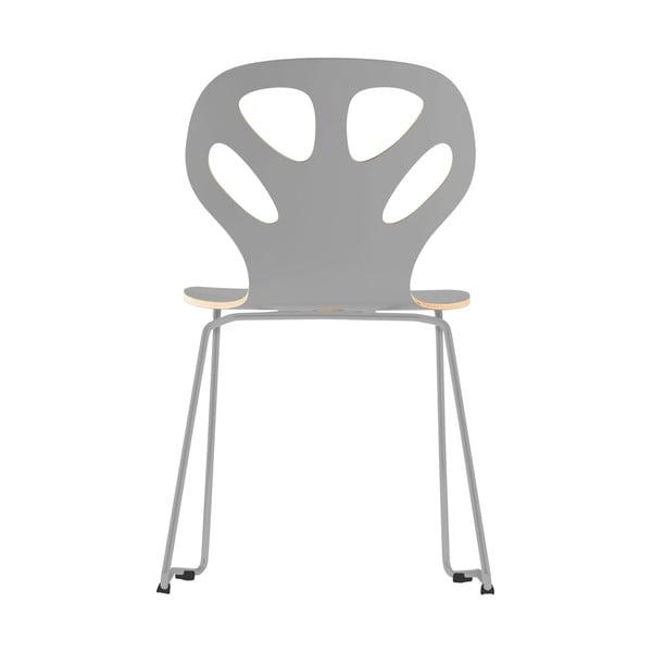 Stolička Maple, sivá
