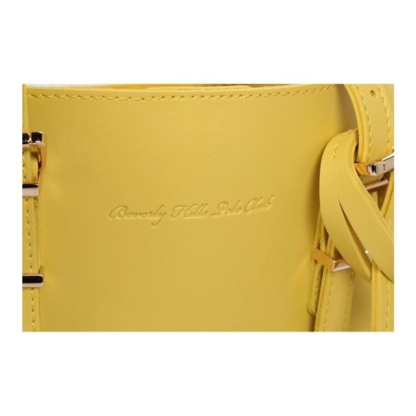 Žltá kabelka z eko kože Beverly Hills Polo Club Alicia