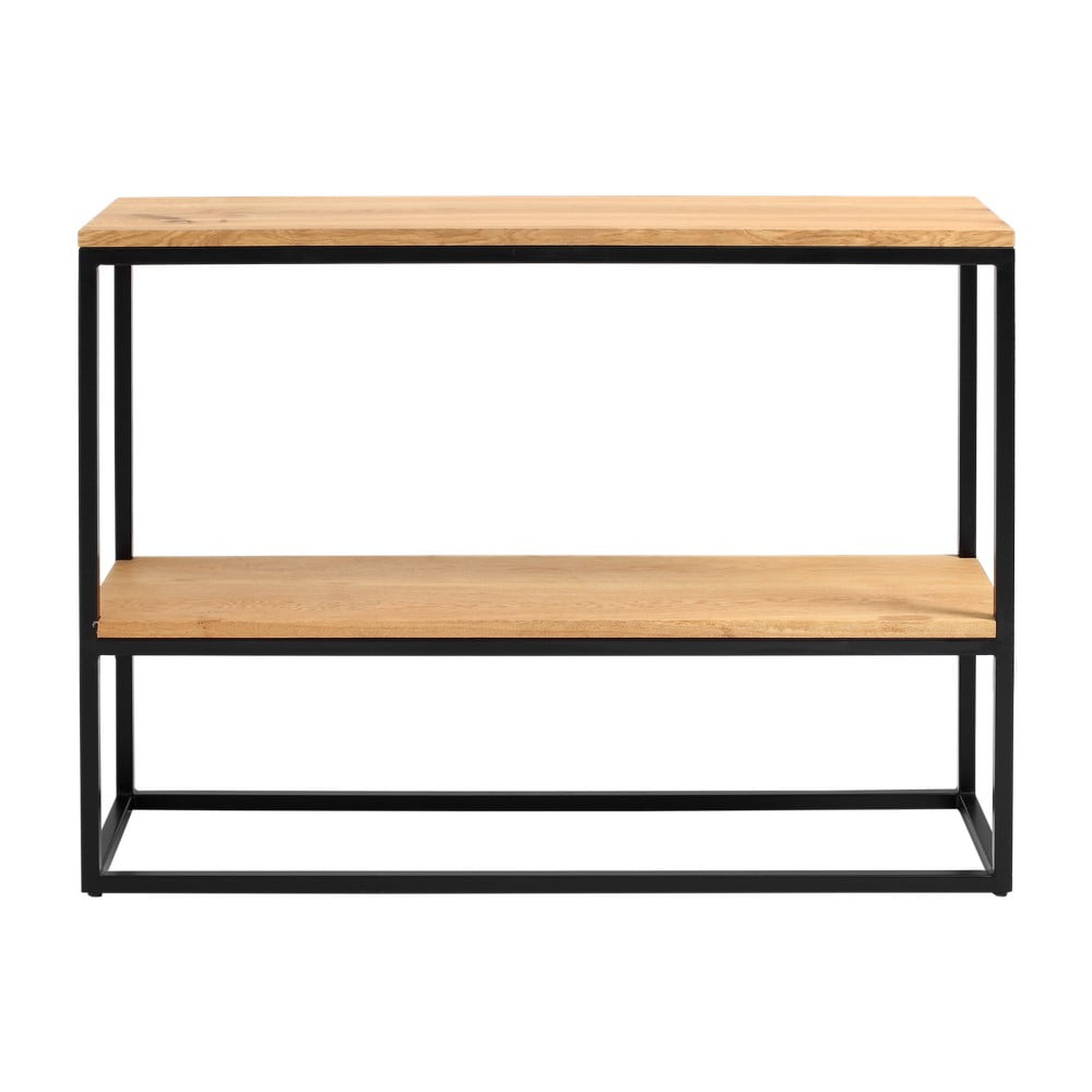 Čierny konzolový stolík z dubového dreva Custom Form Julita