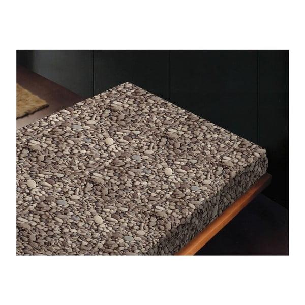 Neelastická posteľná plachta Piedras Gris, 180x260 cm