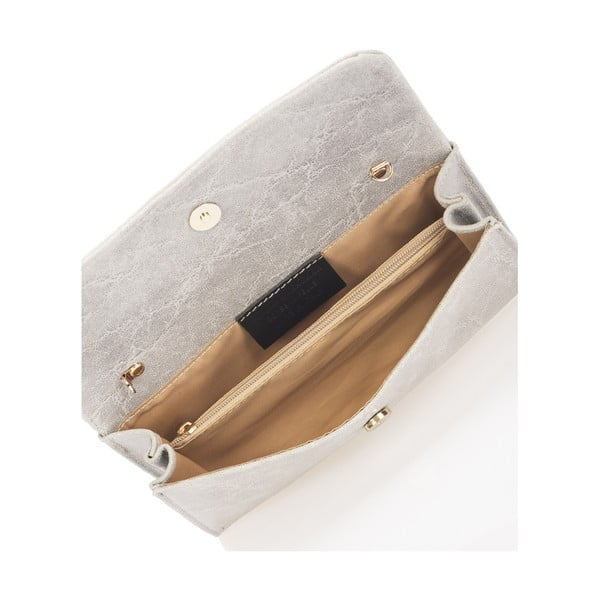 Sivá kožená kabelka Giulia Massari Artie