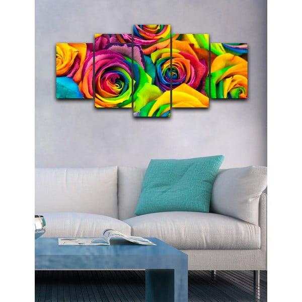 5-dielny obraz Funky ruže