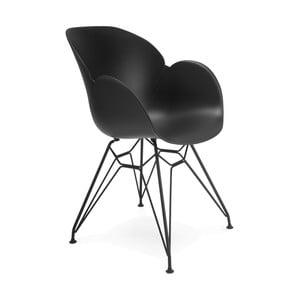 Čierna jedálenská stolička Kokoon Umela
