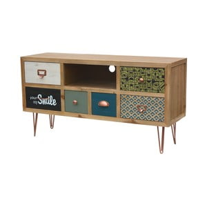 Televízny stolík z jedľového dreva Livin Hill Portofino