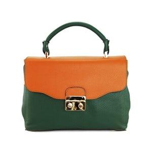 Kožená kabelka Cherie Verde/Cognac