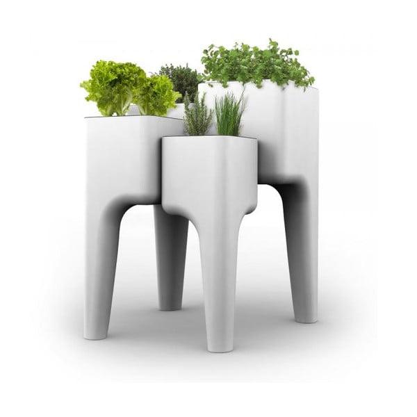 Dizajnový kvetináč KIGA XL 104x80 cm, biely
