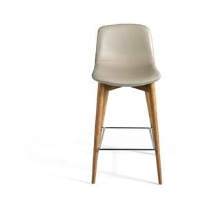 Béžová barová koženková stolička Ángel Cerdá Margarita