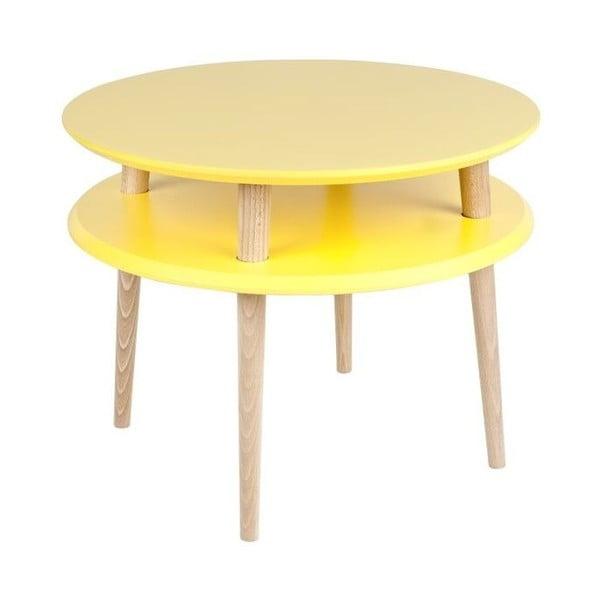Konferenčný stolík UFO 45x57 cm, žltý
