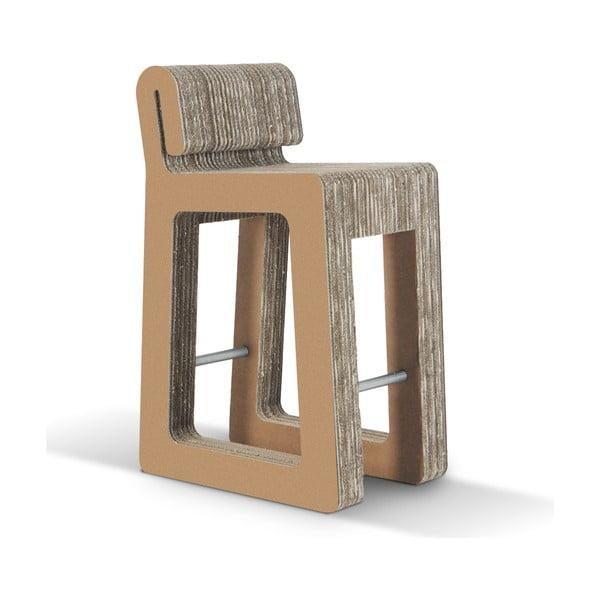 Barová kartónová stolička Hook Stool