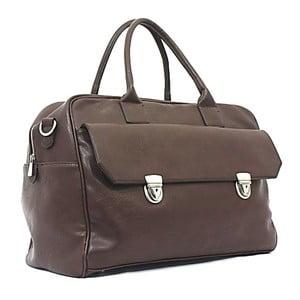 Cestovná taška Bobby Black - Coffee, 45x33 cm