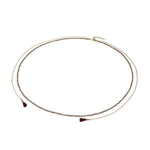 Čierny dámsky náhrdelník s detailmi v zlatej farbe Runaway Rebeca