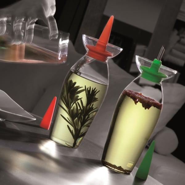 Fľaša na olej/ocot Cruet Red
