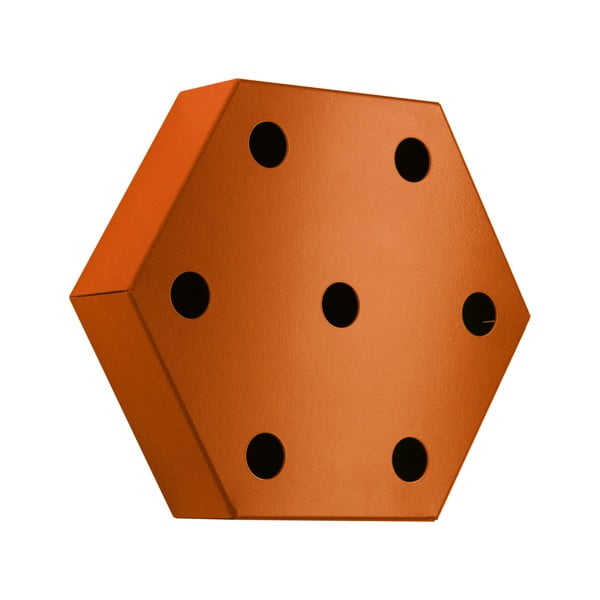 Stojan na víno Hexagon, oranžový