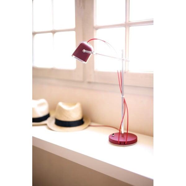 Červená stolová lampa Mob