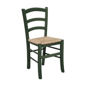 Zelená stolička z bukového dreva Alis