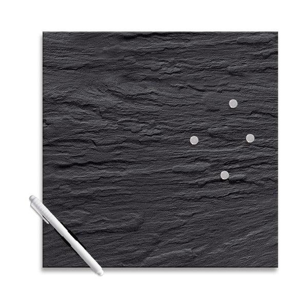 Magnetická tabuľa Eurographics Black Slate, 30 x 30 cm