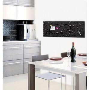 Magnetická tabuľa Black Rain, 30 x 80 cm