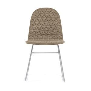Béžová stolička s kovovými nohami IKER Mannequin V Triangle