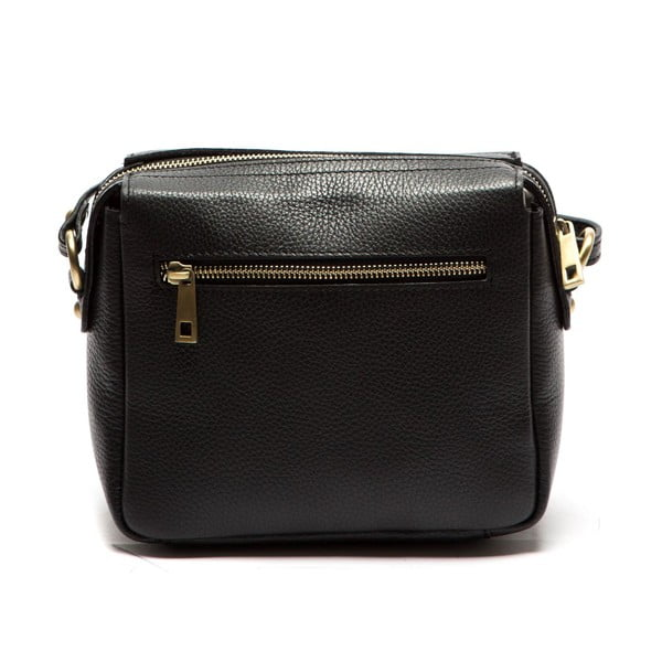 Čierna kožená kabelka Sofia Cardoni Roberta