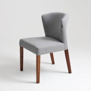 Sivá stolička s prírodnými nohami Custom Form Harvard