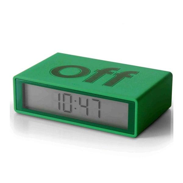 Preklápací budík Flip, zelený