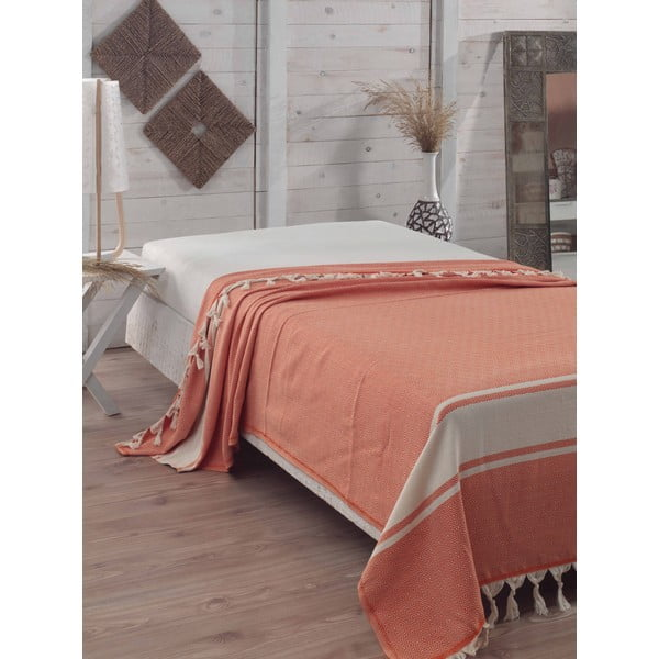 Prikrývka na posteľ Elmas Orange, 200x240 cm