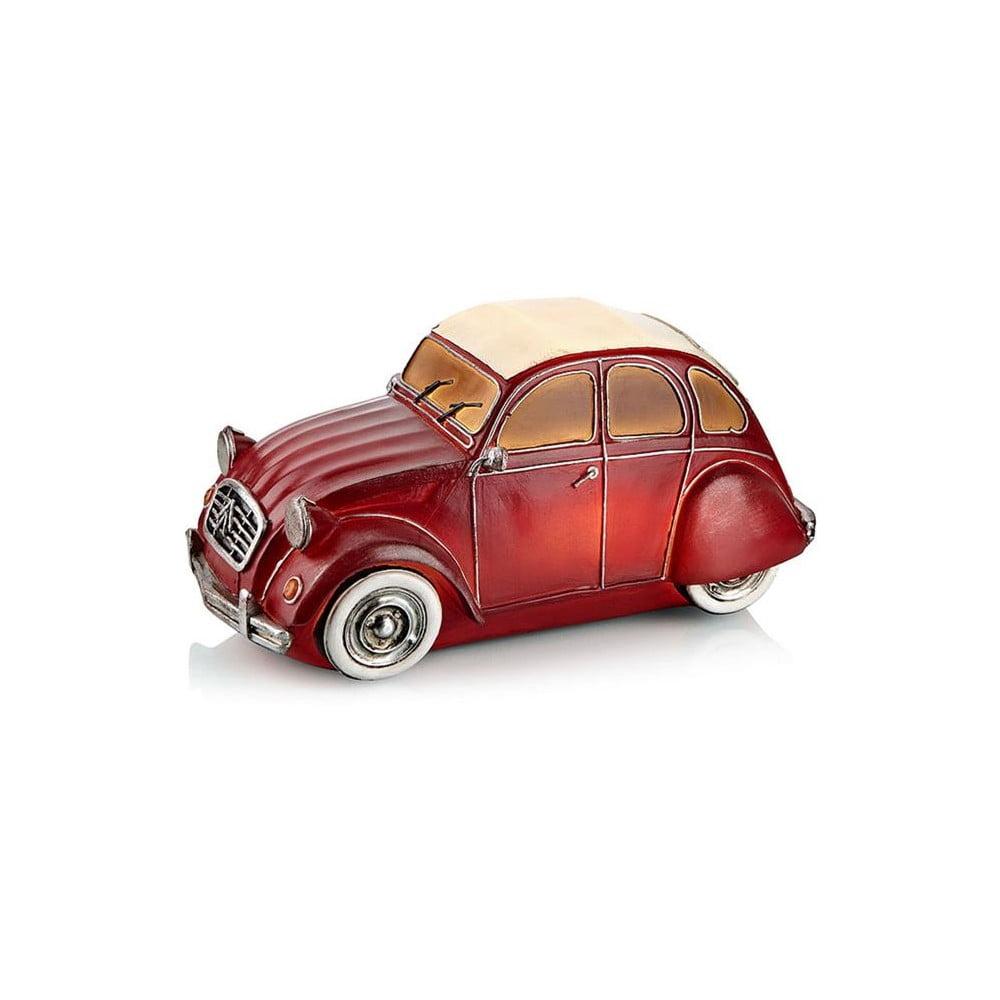 Červená stolová svetelná dekorácia v tvare auta Markslöjd Nostalgi