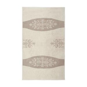 Krémový bavlnený koberec Floorist Decor, 80x300cm