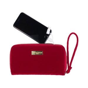 Červená peňaženka so zabudovanou powerbankou Tri-Coastal Design