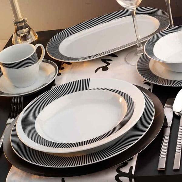 Porcelánový set tanierov Classic Grey, 24 ks