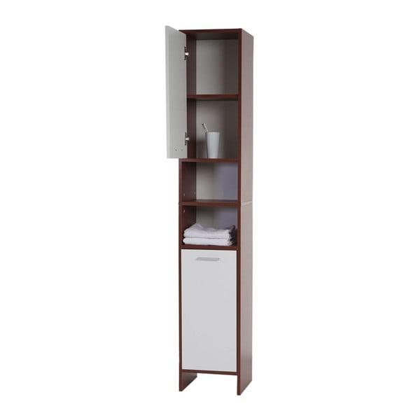 Kupeľňová skrinka Sonoma Brown/White, 31,5x179 cm