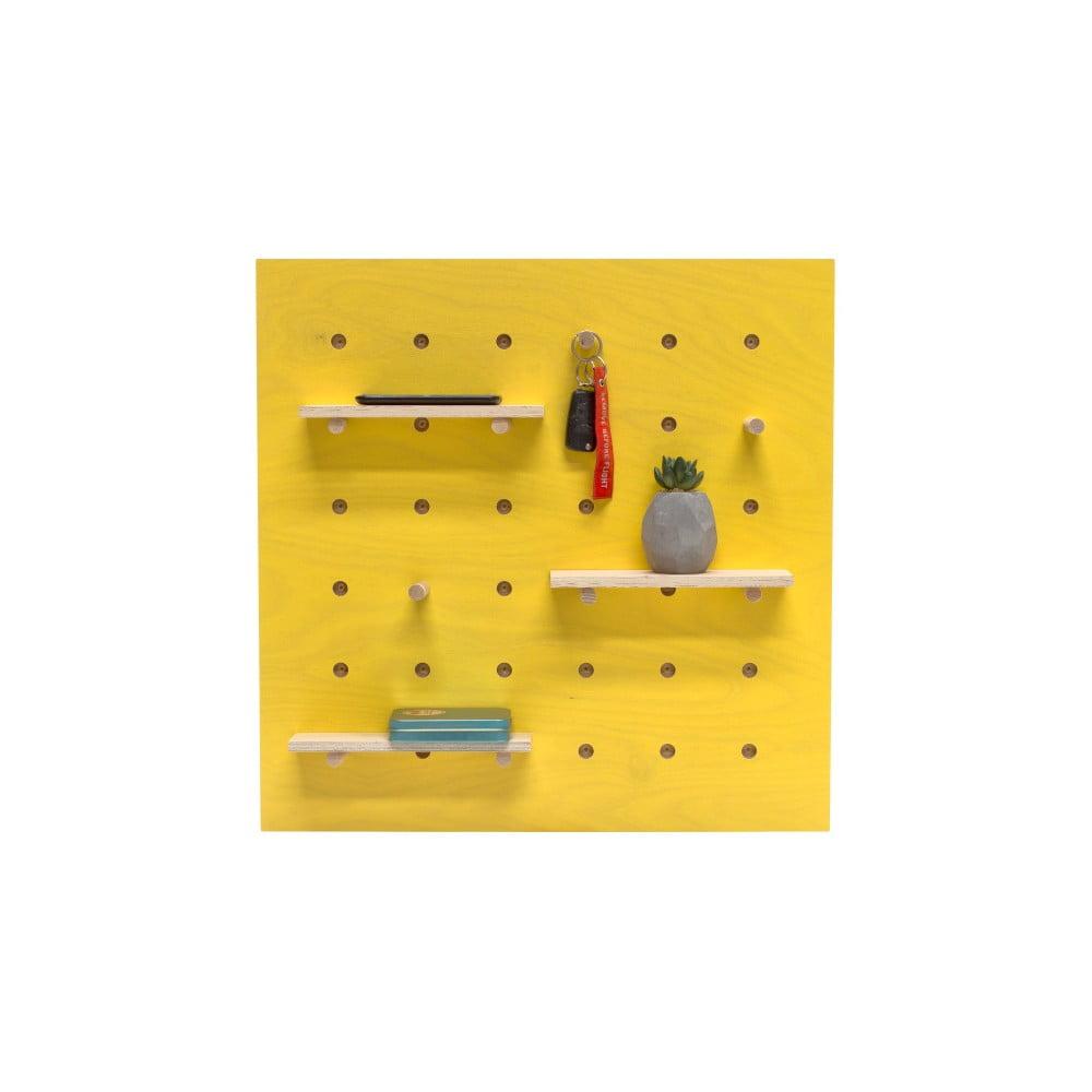 Žltý nástenný organizér Ragaba TRIVENTI, 60 × 60 cm