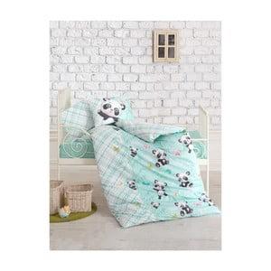 Detské obliečky s plachtou Panda, 100×150 cm