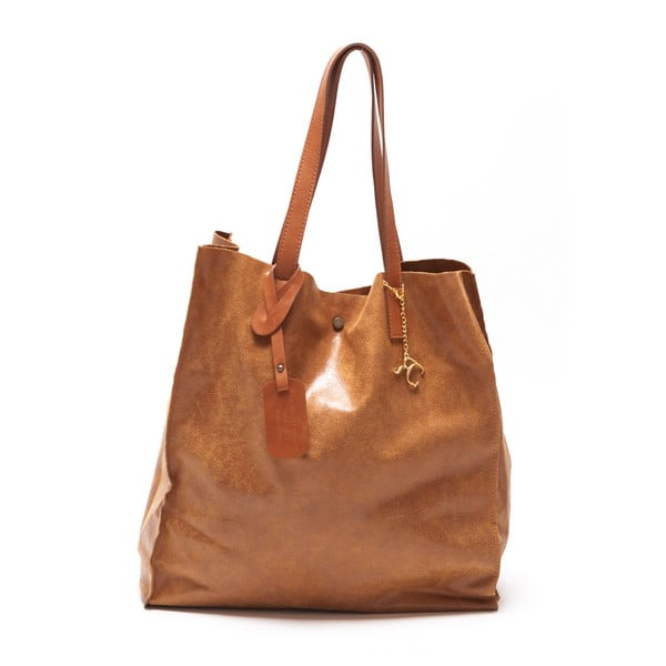Kožená kabelka Renata Corsi 892 Cognac