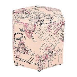 Podnožka/stolík Pink Butterfly