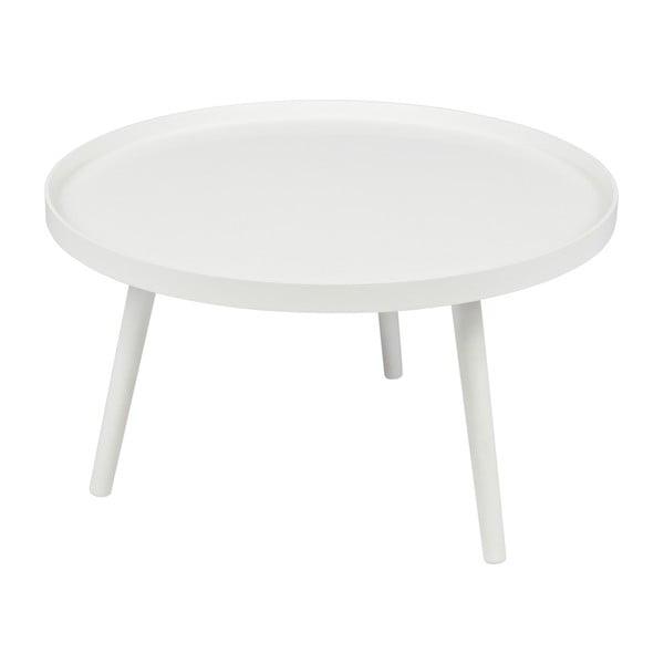 Biely konferenčný stolík WOOOD Mesa, Ø 60cm