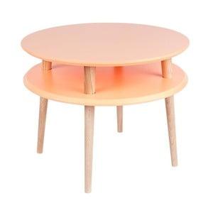 Konferenčný stolík UFO 45x57 cm, oranžový