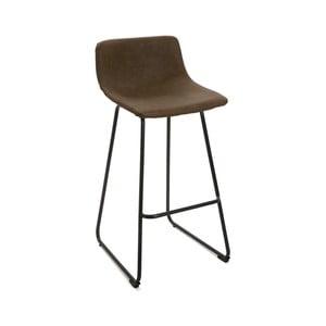 Čierna barová stolička Versa Bar, výška 92 cm