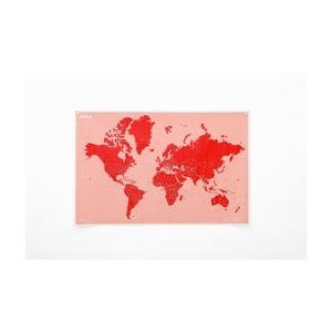 Pokrčená nástenná mapa sveta so štátmi Palomar Countries