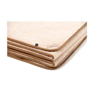 Hnedo-béžová deka z ťavej vlny Royal Dream Cappucino, 220 x 200 cm