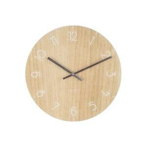 Svetlohnedé hodiny Present Time Glass Wood