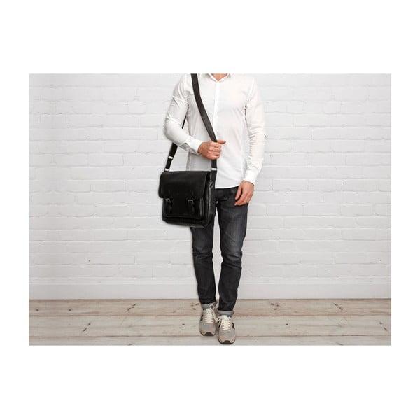 Pánska kožená taška Baker Black