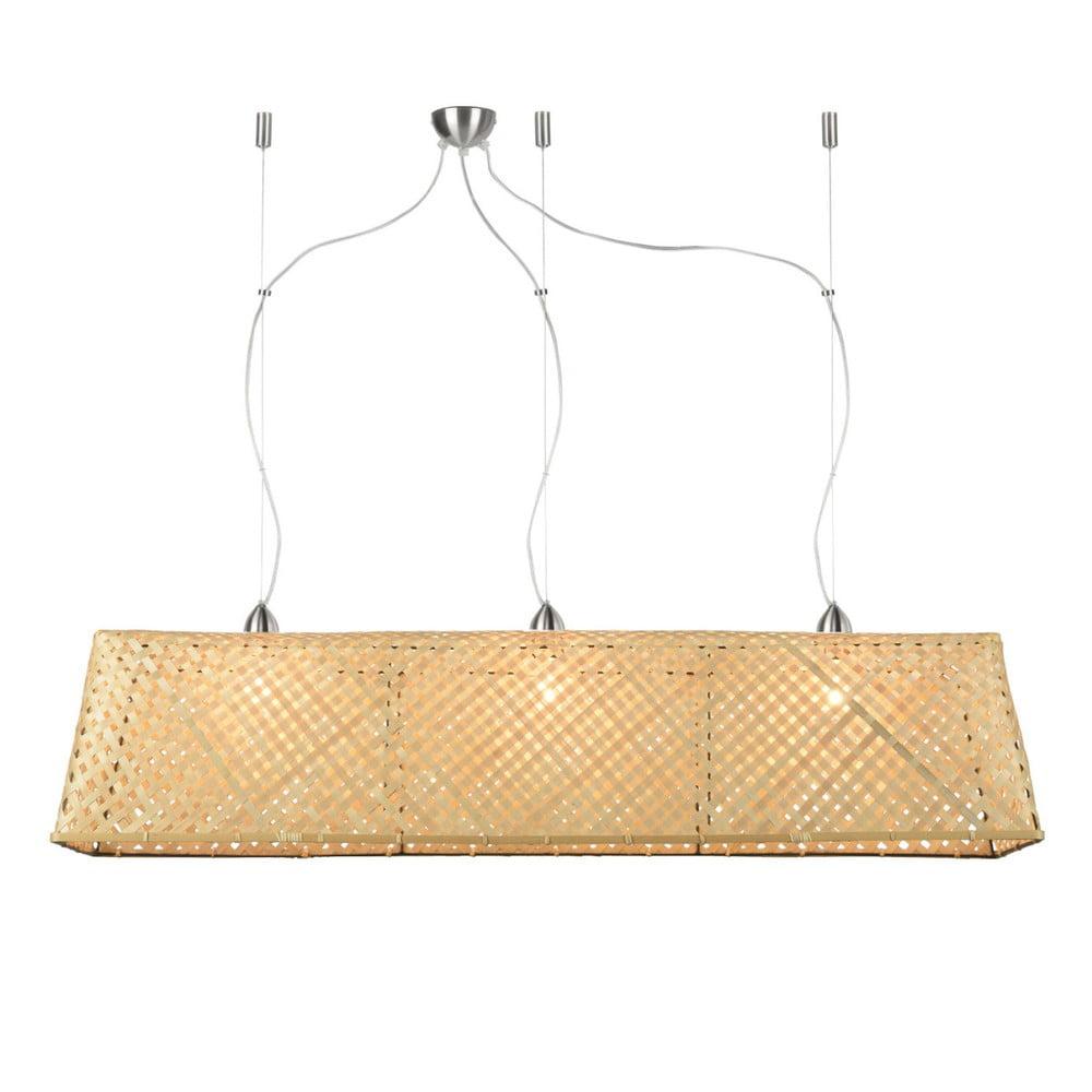 Svetlohnedé bambusové závesné svietidlo Good&Mojo Komodo