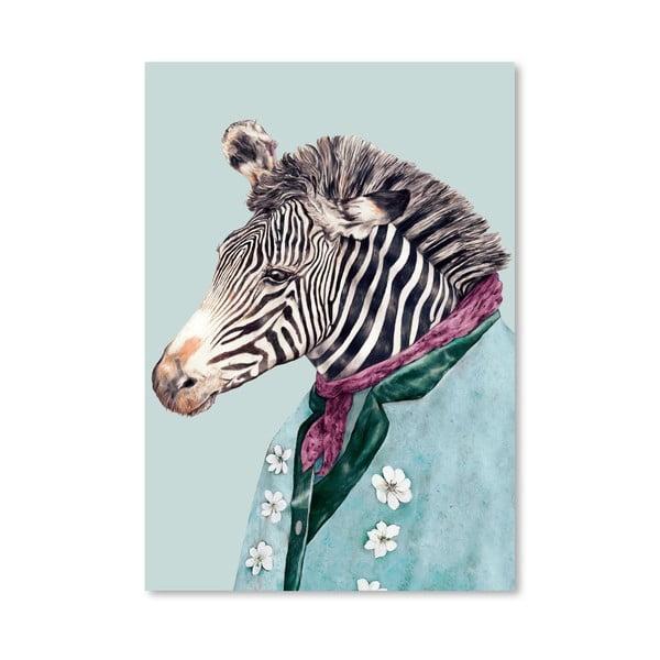 Plagát Zebra, 30x42 cm