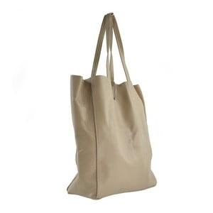 Béžová kožená kabelka Chicca Borse Siro